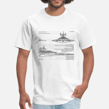 Dork-vader Star Destroyer diagram - Men's T-Shirt