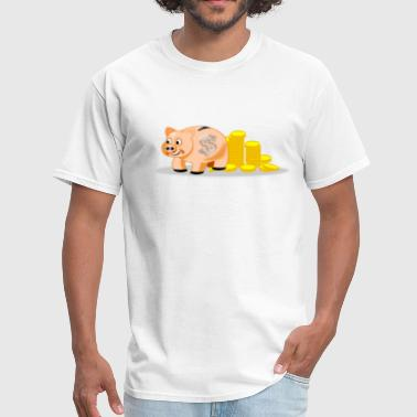 Piggy Bank - Men's T-Shirt