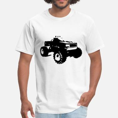 Bigfoot Illustrations Monster Truck Illustration - Men's T-Shirt