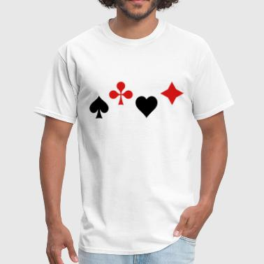 Ace of Spade Aces Hearts diamonds clubs 2c - Men's T-Shirt