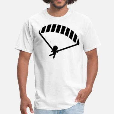 Stickman Quotes Parachuting Stickman - Men's T-Shirt