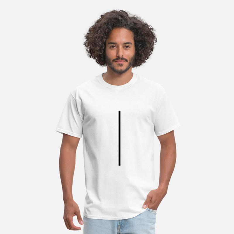 Swag T-Shirts - Vertical Line - Men's T-Shirt white