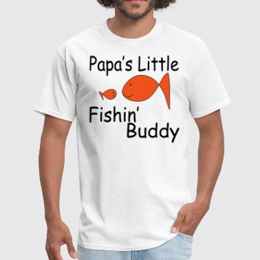 papa little fishin - Men's T-Shirt