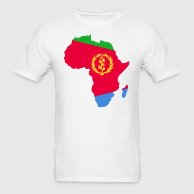 Eritrea Flag In Africa Map - Men's T-Shirt