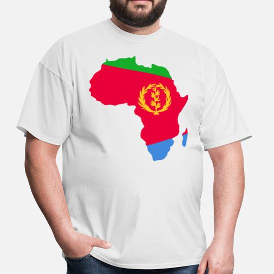 Map Of Africa Eritrea.Eritrea Flag In Africa Map Men S T Shirt Spreadshirt
