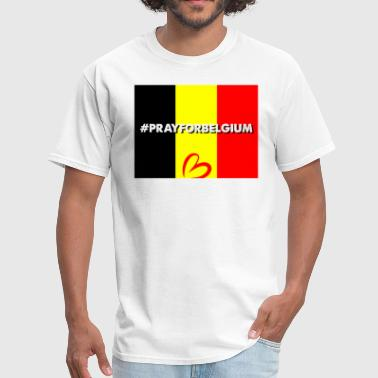 Pray For Belgium - Men's T-Shirt