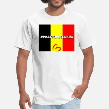 Terrorist Attack On Brussels Pray For Belgium - Men's T-Shirt