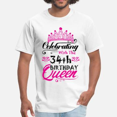 5e803eca 34th Birthday Funny Sayings Birthday Celebrating With the 34th Birthday  Queen - Men'. Men's T-Shirt