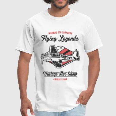 Flying Legends Vintage Aircraft Warbird Design - Men's T-Shirt