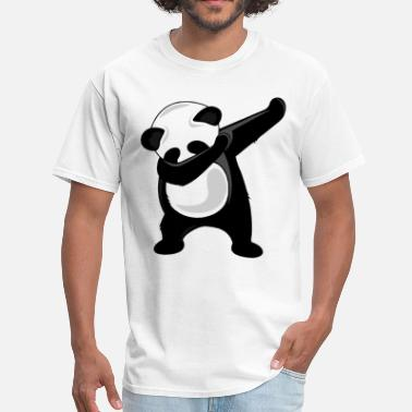 Outline Dancer Dabbing Panda Giant Panda Bear Dab Dance Tee dance - Men's T-Shirt