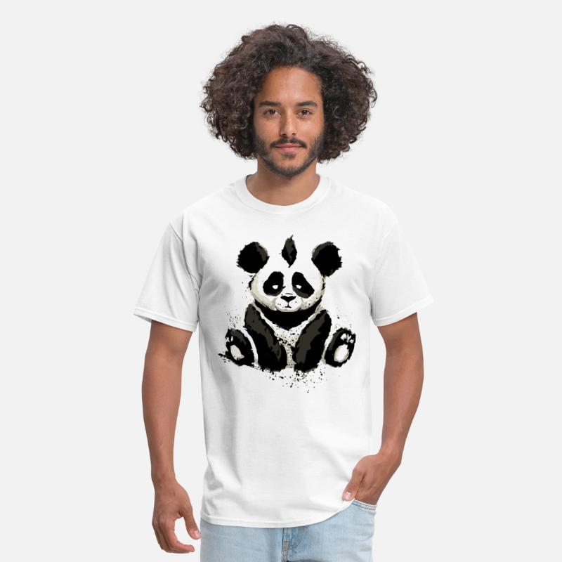 2018 T-Shirts - Inked Panda Bear - Men's T-Shirt white
