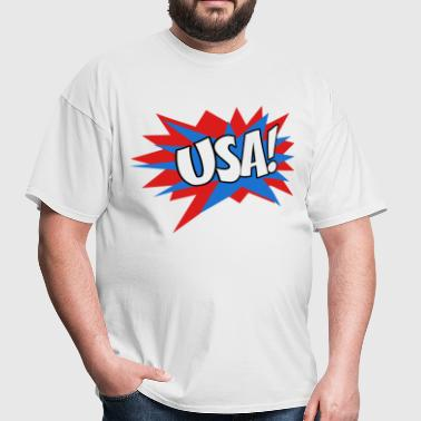 USA comic book font - Men's T-Shirt