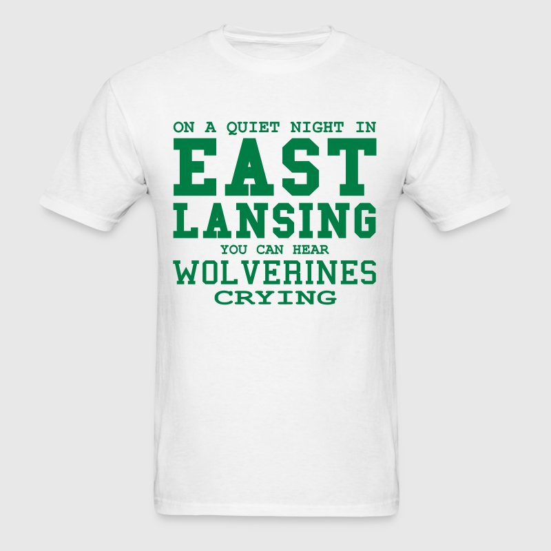 Quiet night in East Lansing - Men's T-Shirt