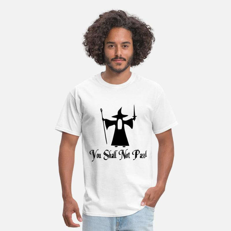 Witch T-Shirts - You Shall Not Pass Vector - Men's T-Shirt white