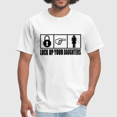 Vector-designs Stag Night Party Lock Up Your Daughters Vector Design - Men's T-Shirt