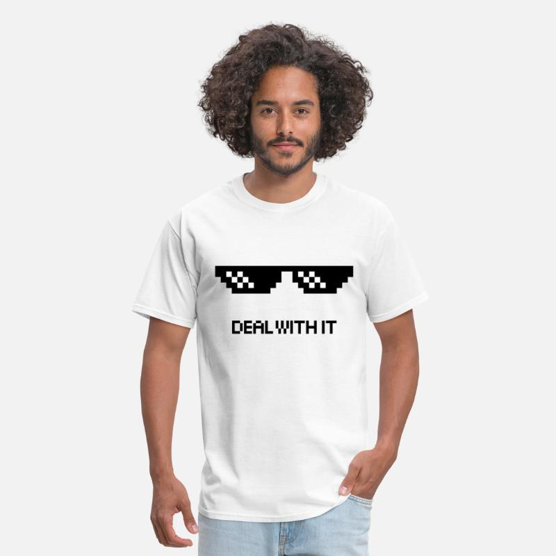 Thug T-Shirts - Deal with it Thug Life Videos - Men's T-Shirt white