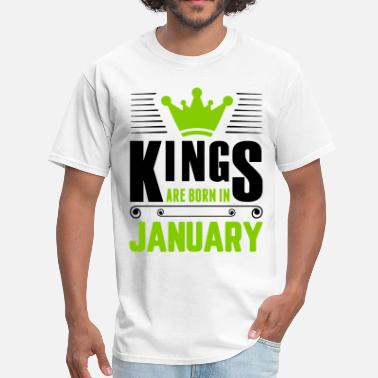 Legend Are Born In January Kings Are Born In January - Men's T-Shirt