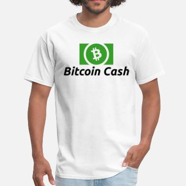 Cash Bitcoin Cash Logo (with Text) - Men's T-Shirt