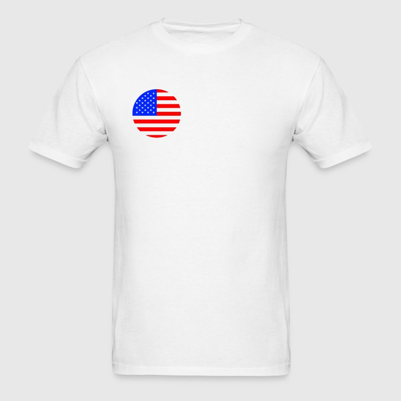 USA Flag Logo - Men's T-Shirt