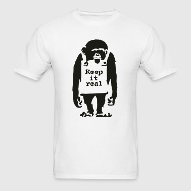 Banksy - Keep It Real - Men's T-Shirt