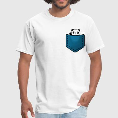 Panda In Pocket Panda in a pocket - Men's T-Shirt