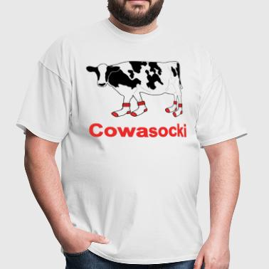 Milk Cow in Socks - Cowasocki Cow A Socky - Men's T-Shirt