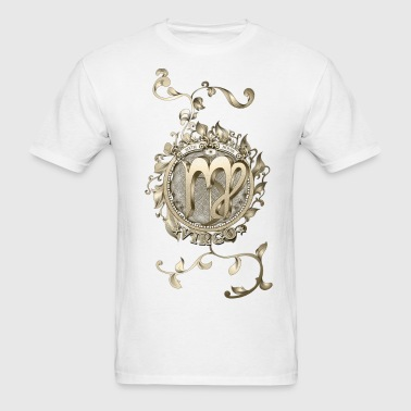 Virgo Bronze Floral Logo - Men's T-Shirt