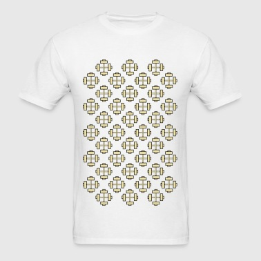 Dumbell pattern - Men's T-Shirt