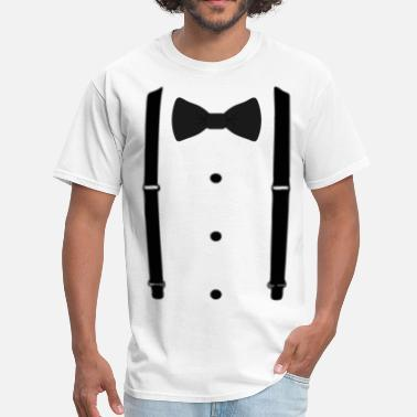 Suspenders bow tie (3) - Men's T-Shirt