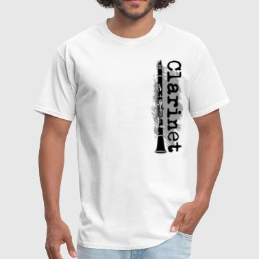 Vertical Clarinet Design - Men's T-Shirt