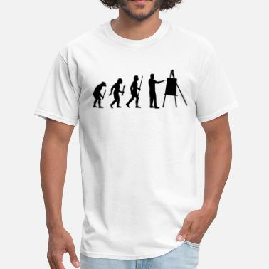 Shop Evolution Painter T-Shirts online | Spreadshirt