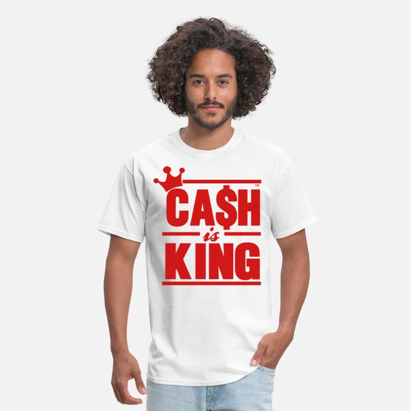 Cash T-Shirts - CASH IS KING - Men's T-Shirt white