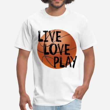 Live Love Play Live, Love, Play - Men's T-Shirt