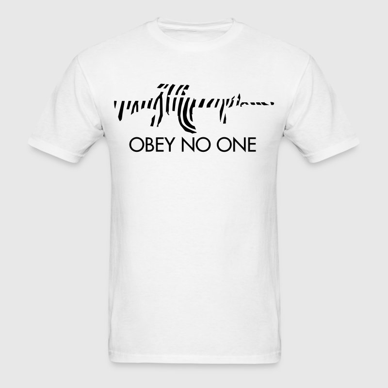 Obey no one - Men's T-Shirt