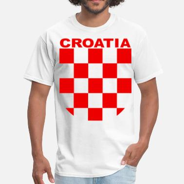 Hrvatska Croatia Sahovnica croatia sahovnica grb red, shirt white - Men's T-Shirt