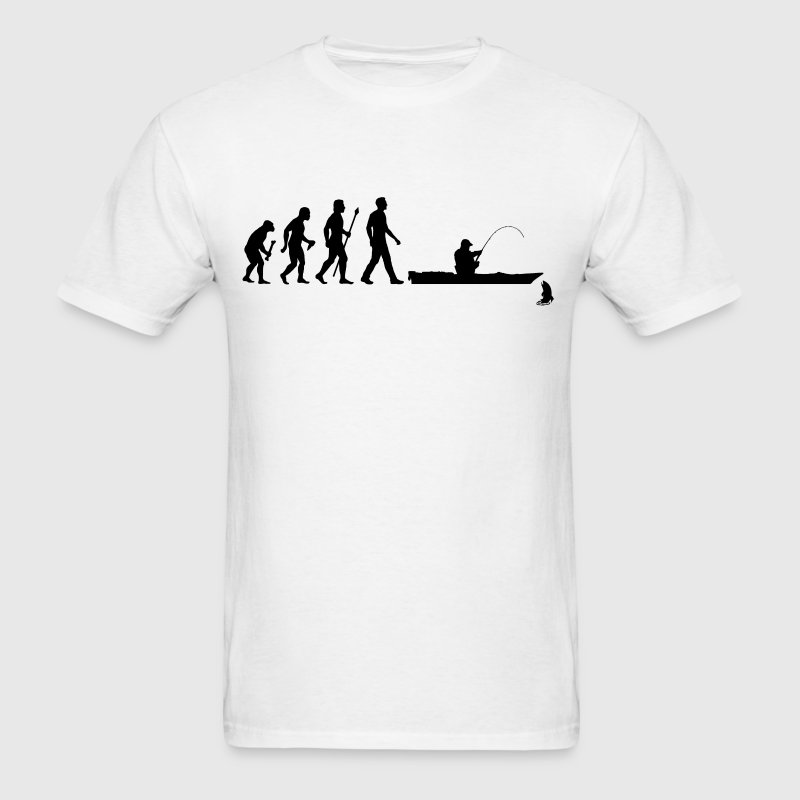 Kayak Fishing Evolution - Men's T-Shirt