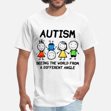 Embrace Autism Seeing The World From A Different Angle Wom - Men's T-Shirt
