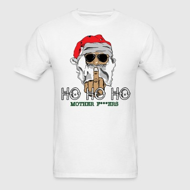 Santa Giving Finger - Men's T-Shirt