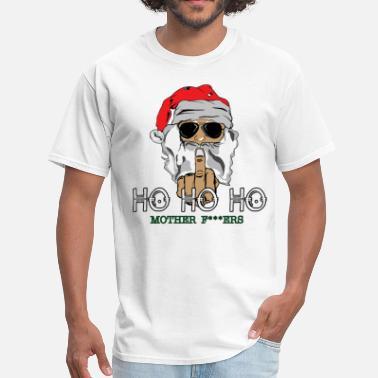 9fb1236d50 Merry Fucking Christmas Santa Giving Finger - Men's T-Shirt