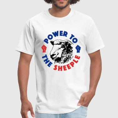 Anti-sjw Power To The Sheeple Funny Sheep SJW Illuminati NW - Men's T-Shirt