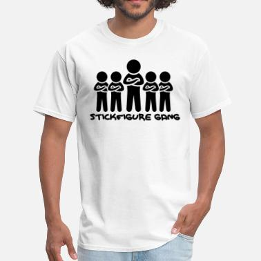 Westside Gang Stickfigure Gang - Men's T-Shirt