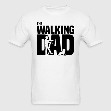 The Walking Dad Funny Cotton - Men's T-Shirt
