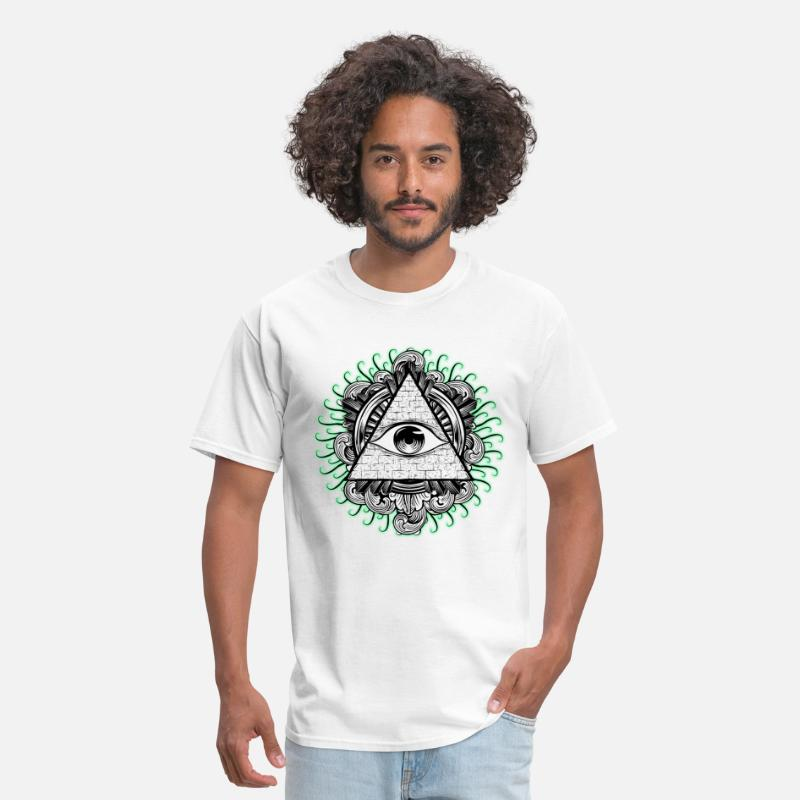 Hipster T-Shirts - All Seeing Eye - Men's T-Shirt white