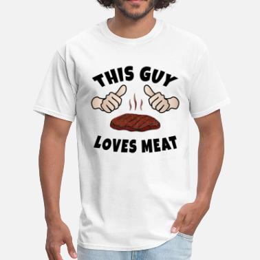 Potted Meat This Guy Loves Meat - Men's T-Shirt