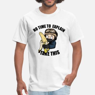Enigma No Time to Explain, Take This Banana! - Men's T-Shirt