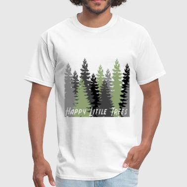 Happy Little Trees T-Shirts & Gifts Bob Style Ross - Men's T-Shirt