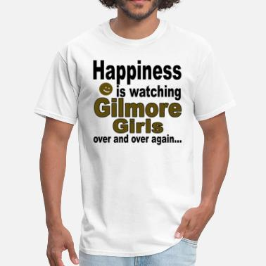 Happy Gilmore Happiness is watching Gilmore Girls - Men's T-Shirt