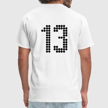 13, Numbers, Football Numbers, Jersey Numbers - Men's T-Shirt