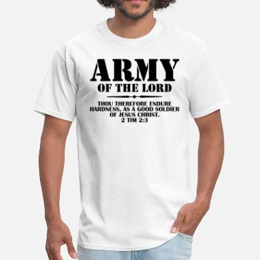 Soldier Of Jesus Christ Army Of The Lord (2 Timothy 2:3) - Men's T-Shirt