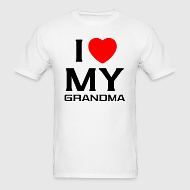 I Love My grandma - Men's T-Shirt